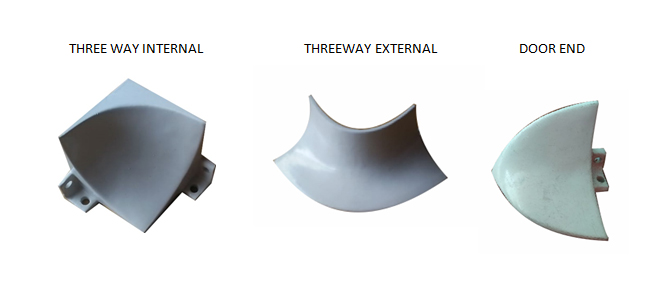 Jual Aluminium Curving, THREE WAY INTERNAL, EXTERNAL, DOOR END